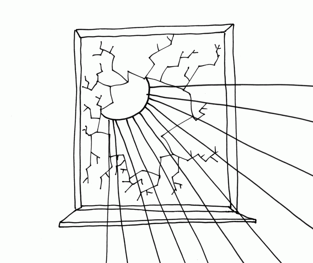 the crack in the window